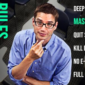The Most Inspiring Speech: 6 Rules To Master Your Focus | Cal Newport